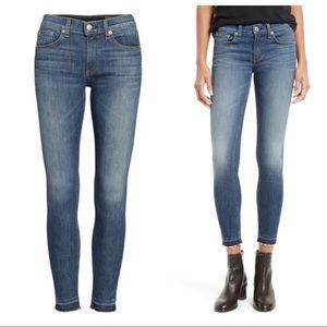 Rag & Bone Frayed Hem Ankle Skinny Jeans size 26